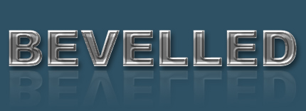 Bevelled Text in Photoshop