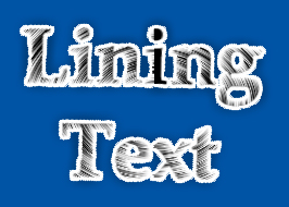 Lining Text in Photoshop
