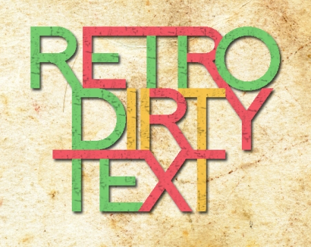 Retro Dirty Text