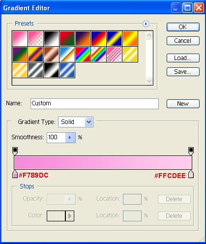Background Gradient Settings