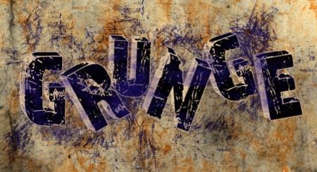 Grunge 3D Text
