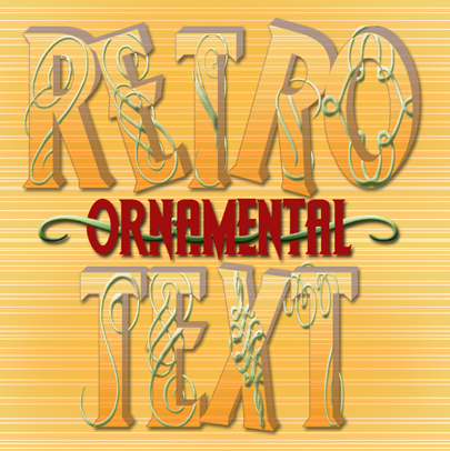 Retro Ornamental Text