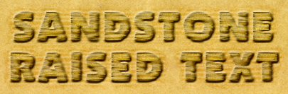Sandstone Raised Text Effect