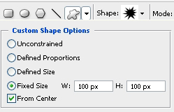 Shape Options Settings