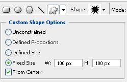 Shape Options Settings