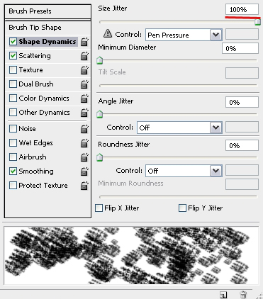 Brush Shape Dynamics Settings