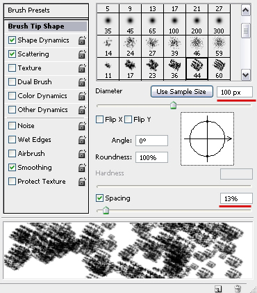 Brush Tip Shape Settings