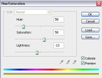 Hue/Saturation Settings