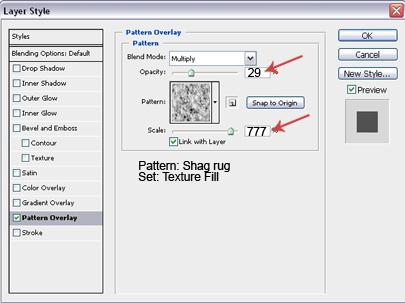 Pattern Overlay Settings