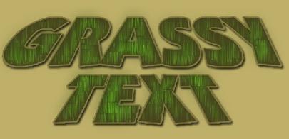 Grassy Text