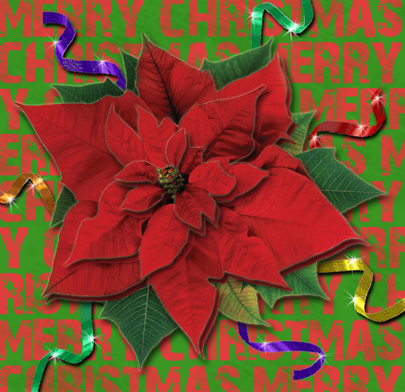 Christmas Poinsettia Decoupage