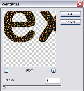 Pointillize Settings