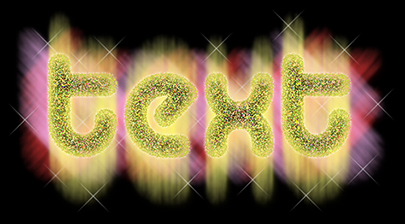 Shining Glitter Text