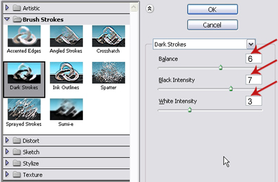Dark Strokes Settings