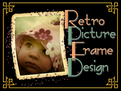 Retro Picture Frame Design