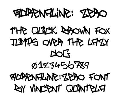Adrenaline:Zero Font