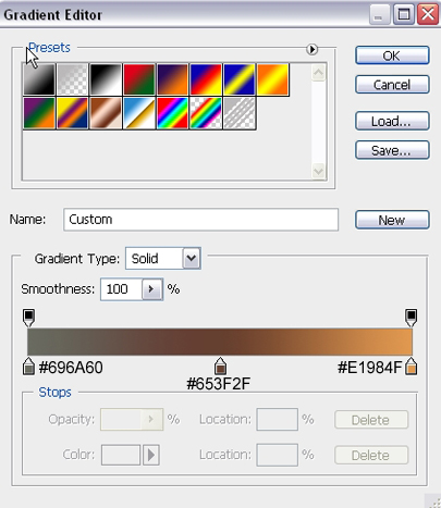 Gradient Settings