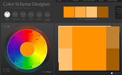 Color Scheme Designer Layout