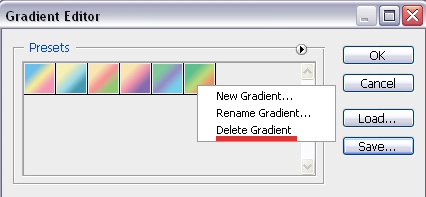 Delete Gradients