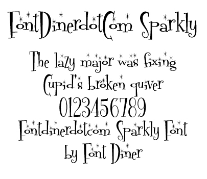 Fontdinerdotcom Sparkly Font