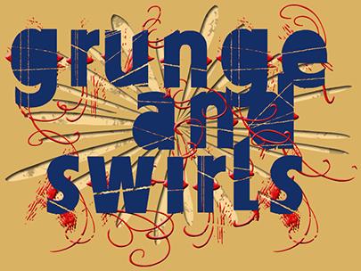 Grunge and Swirls Text