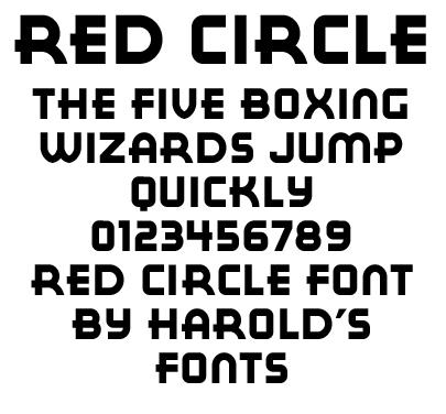 Red Circle Font