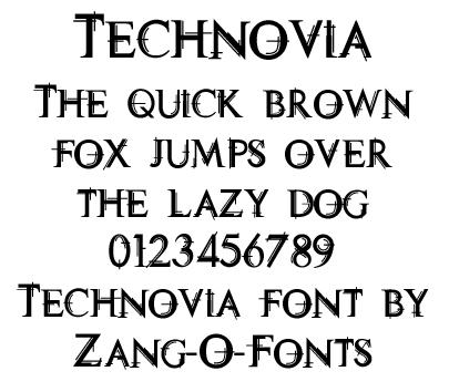 Technovia Font