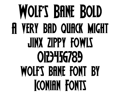 Wolf's Bane Font