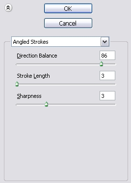 Angled Strokes Settings