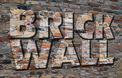 Brick Wall Text Effect