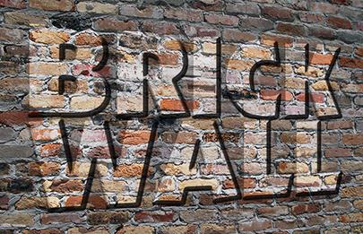 Brick Wall Text Effect