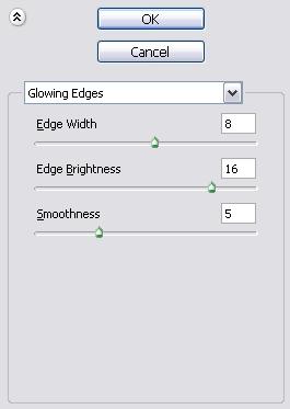Glowing Edges Settings