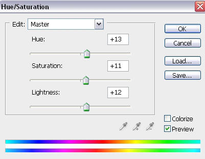 Hue/Saturation Settings