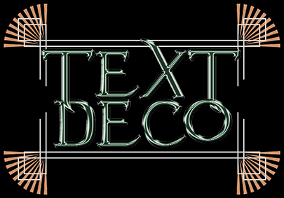 Art Deco Text Effect Photoshop Tutorial
