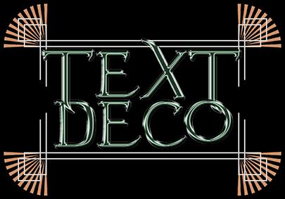 Art Deco Text