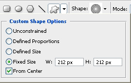 Shape Fixed Size Settings