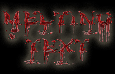 Melting Text Effect