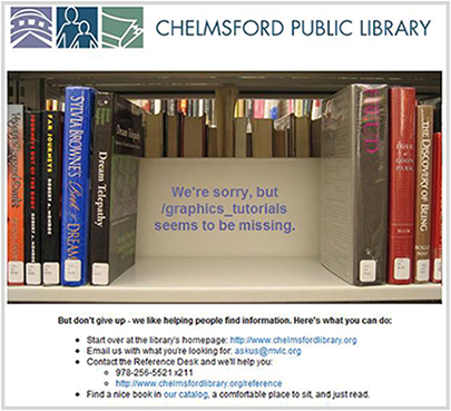 chelmsfordlibrary.org 404 Error Page