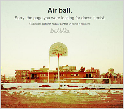 dribbble.com 404 Error Page