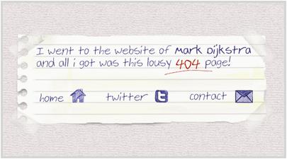 markdijkstra.eu 404 Error Page