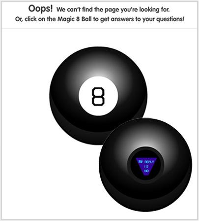 mattel.com 404 Error Page