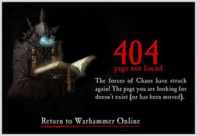 warhammeronline.com 404 Error Page